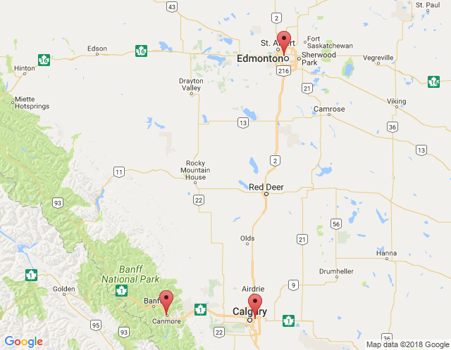 Map of Calgary Office